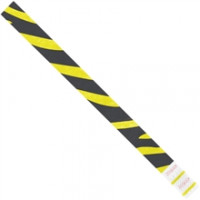 Yellow Zebra Stripe Tyvek® Wristbands, 3/4 x 10""