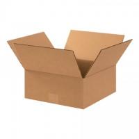 "Corrugated Boxes, 11 x 11 x 4"", Kraft, Flat"