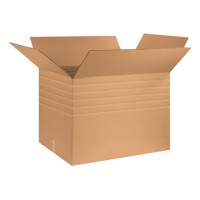 "Single Wall Corrugated Boxes, 32 x 24 x 24"", Multi-Depth, 44 ECT"