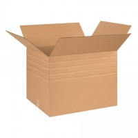 "Single Wall Corrugated Boxes, 26 x 20 x 20"", Multi-Depth, 44 ECT"
