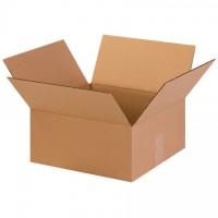 "Corrugated Boxes, 13 x 13 x 6"", Kraft, Flat"