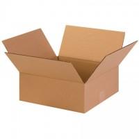 "Corrugated Boxes, 13 x 13 x 5"", Kraft, Flat"