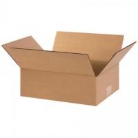 "Corrugated Boxes, 13 x 9 x 4"", Kraft, Flat"