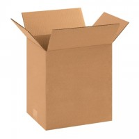 "Single Wall Corrugated Boxes, 11 1/4 x 8 3/4 x 10"", 44 ECT"