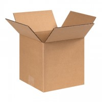 "Single Wall Corrugated Boxes, 8 x 8 x 8"", 44 ECT"