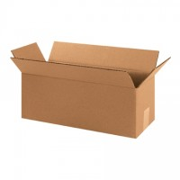 "Corrugated Boxes, 16 x 6 x 6"", Kraft"