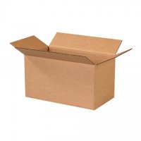 "Corrugated Boxes, 13 x 7 x 7"", Kraft"