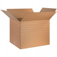 "Single Wall Corrugated Boxes, 30 x 24 x 24"", Multi-Depth, 44 ECT"