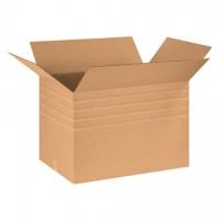 "Single Wall Corrugated Boxes, 30 x 20 x 20"", Multi-Depth, 44 ECT"