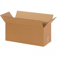 "Corrugated Boxes, 14 x 6 x 6"", Kraft"
