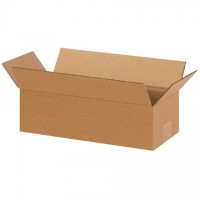 "Corrugated Boxes, 14 x 6 x 4"", Kraft"