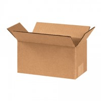 "Corrugated Boxes, 8 x 4 x 4"", Kraft"