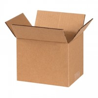 "Corrugated Boxes, 7 x 6 x 6"", Kraft"