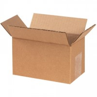 "Corrugated Boxes, 7 x 4 x 4"", Kraft"