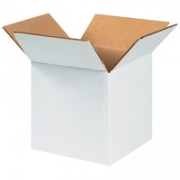 "Corrugated Boxes, 6 x 6 x 6"", White"