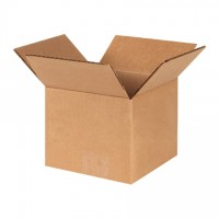 "Corrugated Boxes, 6 x 6 x 5"", Kraft"