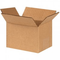 "Corrugated Boxes, 6 x 4 x 4"", Kraft"