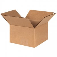 "Corrugated Boxes, 5 x 5 x 3"", Kraft"