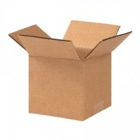 "Corrugated Boxes, 5 x 5 x 4"", Kraft"