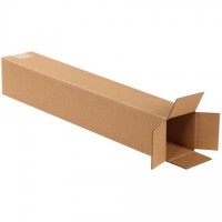 "Corrugated Boxes, 4 x 4 x 24"", Kraft"