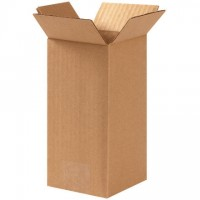 "Corrugated Boxes, 4 x 4 x 8"", Kraft"