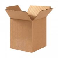 "Corrugated Boxes, 4 x 4 x 6"", Kraft"