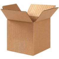 "Corrugated Boxes, 3 x 3 x 3"", Kraft"