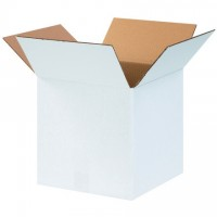 "White Corrugated Boxes, 12 x 12 x 12"", Cube"