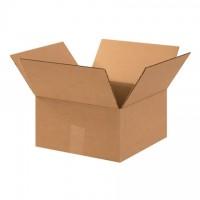 "Corrugated Boxes, 12 x 12 x 6"", Kraft, Flat"