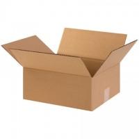 "Corrugated Boxes, 12 x 10 x 5"", Kraft, Flat"