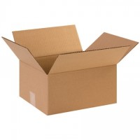 "Single Wall Corrugated Boxes, 12 x 10 x 6"", 44 ECT"