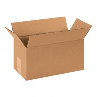 "Single Wall Corrugated Boxes, 12 x 6 x 6"", 44 ECT"