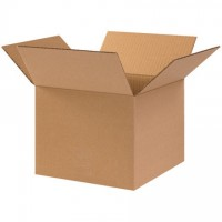 "Corrugated Boxes, 10 x 10 x 8"", Kraft"