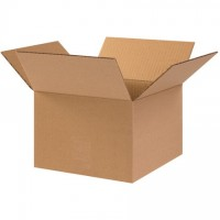 "Corrugated Boxes, 10 x 10 x 7"", Kraft"