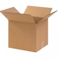 "Corrugated Boxes, 10 x 9 x 9"", Kraft"