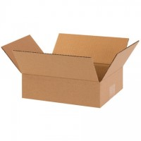"Corrugated Boxes, 10 x 8 x 3"", Kraft, Flat"