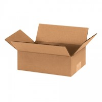"Corrugated Boxes, 10 x 7 x 3"", Kraft, Flat"