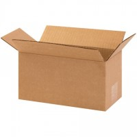 "Corrugated Boxes, 10 x 5 x 5"", Kraft"