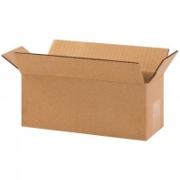 "Corrugated Boxes, 10 x 4 x 4"", Kraft"