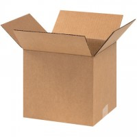 "Corrugated Boxes, 9 x 8 x 8"", Kraft"