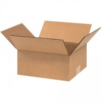 "Corrugated Boxes, 9 x 8 x 4"", Kraft"
