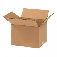 "Corrugated Boxes, 9 x 7 x 6"", Kraft"