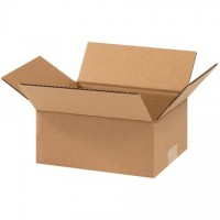 "Corrugated Boxes, 9 x 7 x 3"", Kraft, Flat"