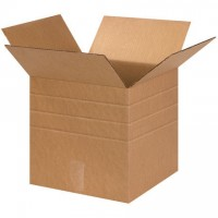 "Corrugated Boxes, Multi-Depth, 13 x 13 x 13"", Kraft"