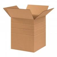 """Corrugated Boxes, Multi-Depth, 10 x 10 x 12"""""""