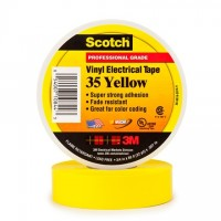 "3M 35 Electrical Tape, 3/4"" x 66', Yellow"