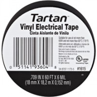 "3M 1615 Electrical Tape, 3/4"" x 60', Black"