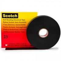 "3M 23 Rubber Splicing Electrical Tape, 3/4"" x 30', Black"