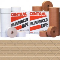 Central® Economy Water Activated Kraft Sealing Tape, 72mm x 450'