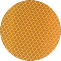 3M 989 Amber Reflective Labels, 3""